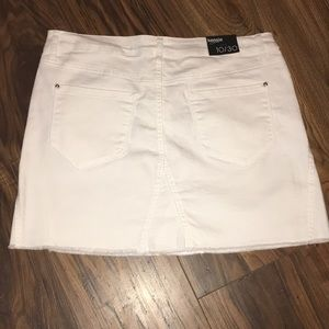 Kensie Skirts - Kensie White Denim Skirt